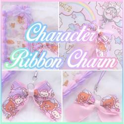 Kawaii Character Resin Phone Charm